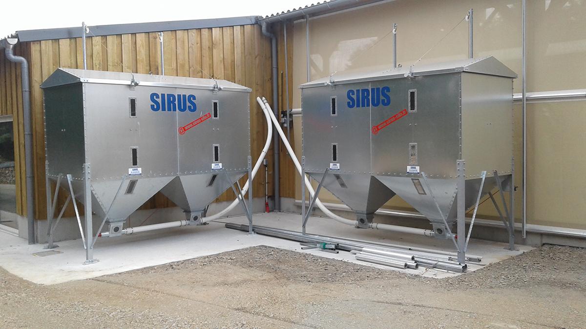 silo acier sirus I3E élevage